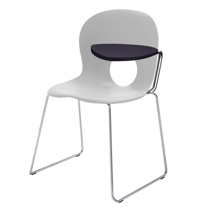 Olivia Slim - Chair with left writing tablet, antipanic hinge