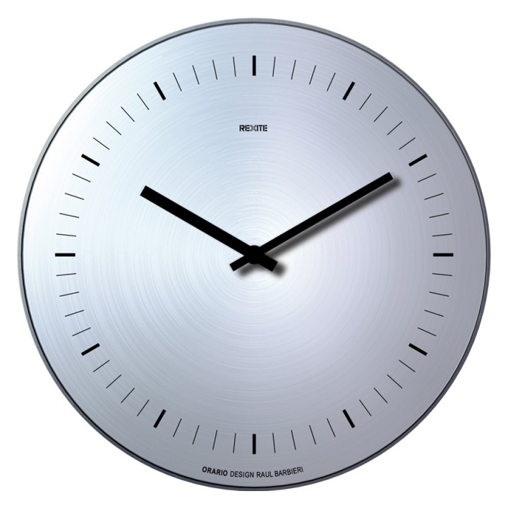Orario - Aluminium finish without numbers - Wall clock