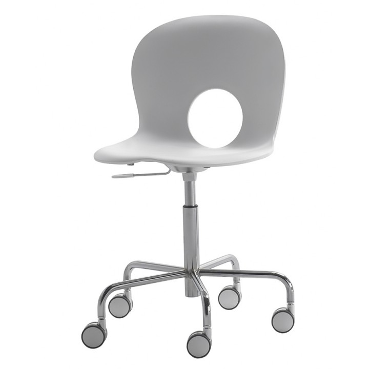 Olivia - Swivel chair on castors with gas lift adjustable height