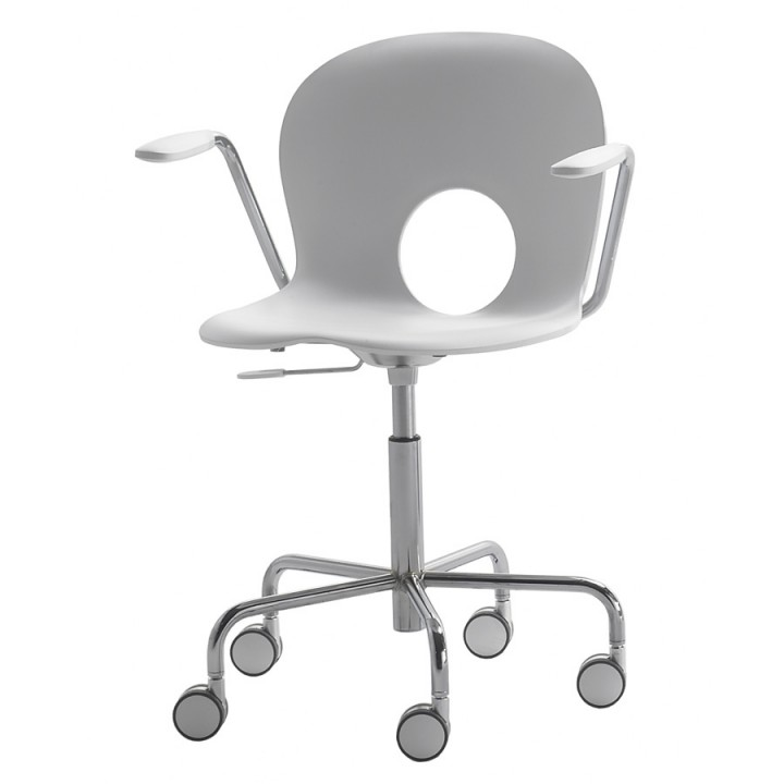 Olivia - Swivel armchair on castors with gas lift adjustable height