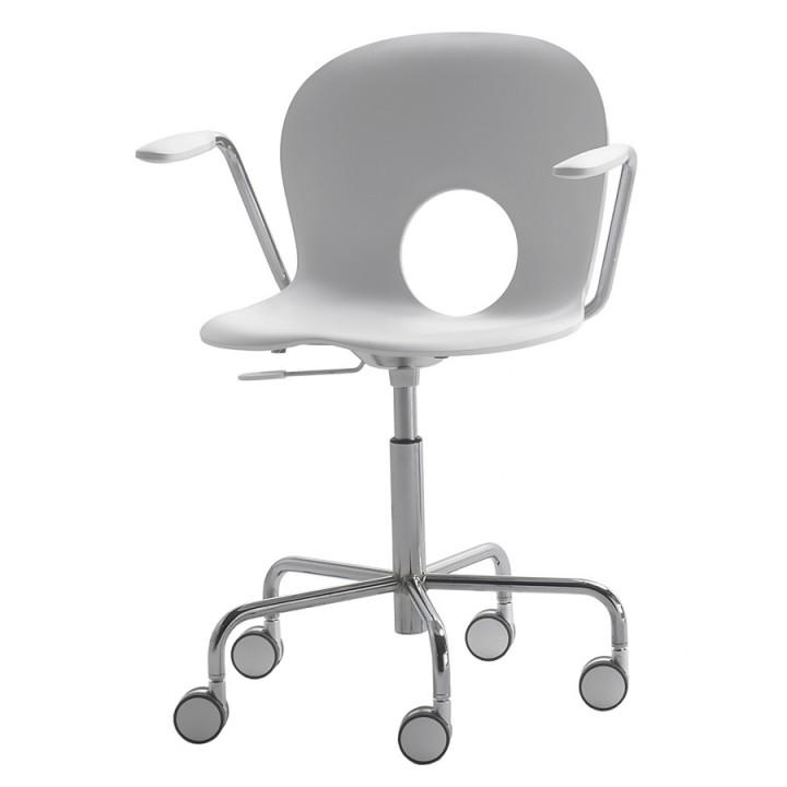 Olivia - Swivel armchair on castors with gas lift adjustable height