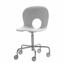Olivia - Swivel chair on castors, fixed height